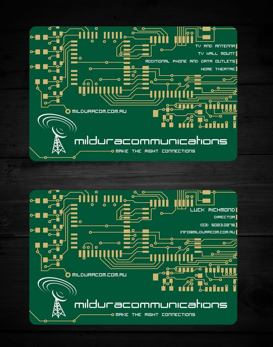 Contest Entry #                                        19                                      for                                         Business Card Design for Mildura Communications