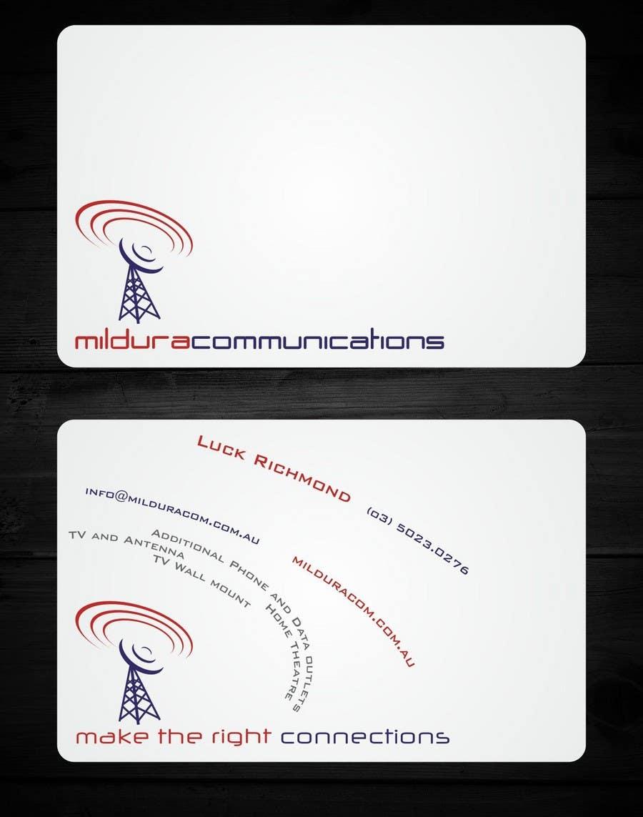 Contest Entry #                                        21                                      for                                         Business Card Design for Mildura Communications