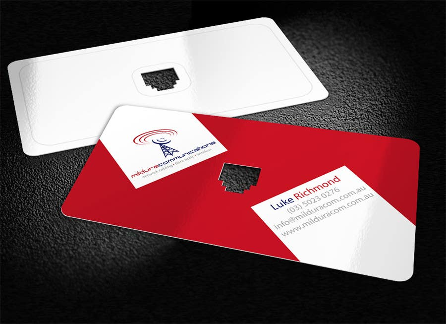 Contest Entry #                                        42                                      for                                         Business Card Design for Mildura Communications