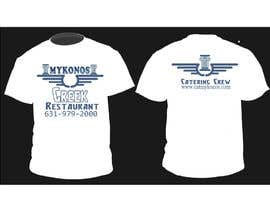 #47 untuk Design a T-Shirt for Mykonos Greek Restaurant oleh jojohf
