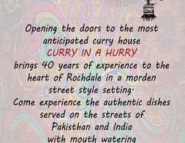Nro 11 kilpailuun Design a Brochure(A4 FOLDED)  FOR Curry Hurry käyttäjältä UmaGuru