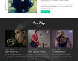Nro 34 kilpailuun Design a Website Mockup for a Country Musician käyttäjältä webmastersud