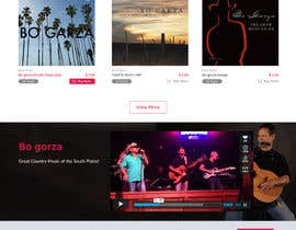 Kreaterz tarafından Design a Website Mockup for a Country Musician için no 27