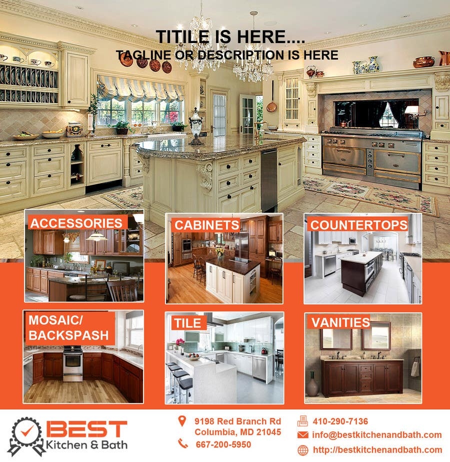 kitchen and bath design news classifieds entry 1 by designsvilla for advertisement flyer design 587