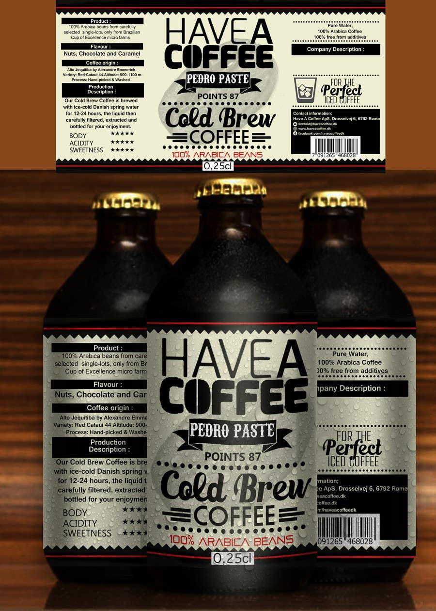 Kilpailutyö #22 kilpailussa Label design for a bottle (Cold brew coffee)