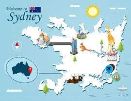 Nro 16 kilpailuun Illustrate Map of Sydney with cartoon like elements käyttäjältä Johnelvin