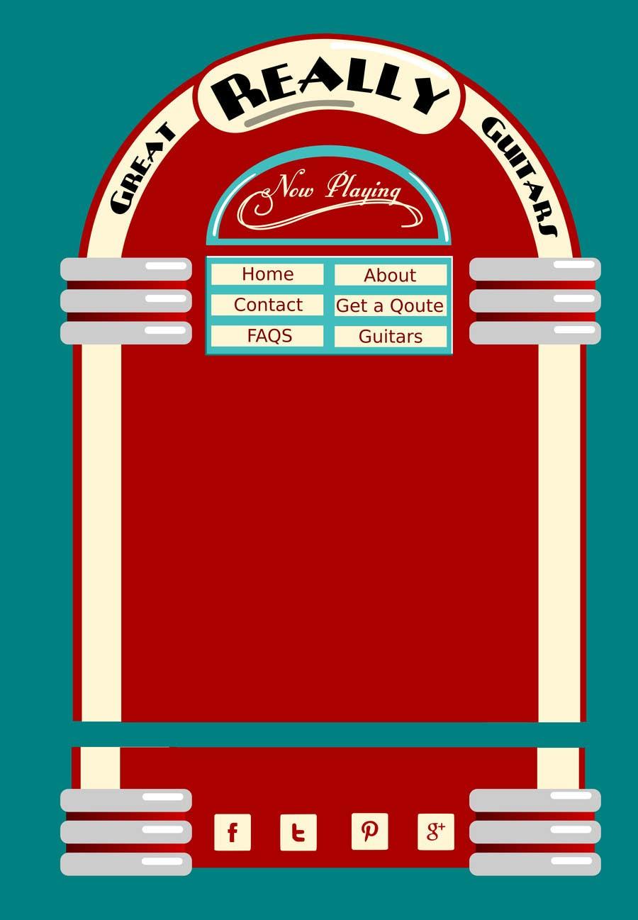 Penyertaan Peraduan #                                        42                                      untuk                                         1950's American Diner Theme (guitar shop)