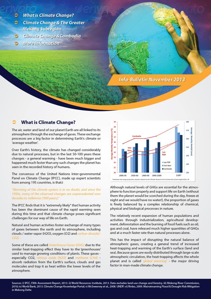 #20 for Design a Info-Bulletin template for a climate change & agriculture awareness-raising by Brandwar