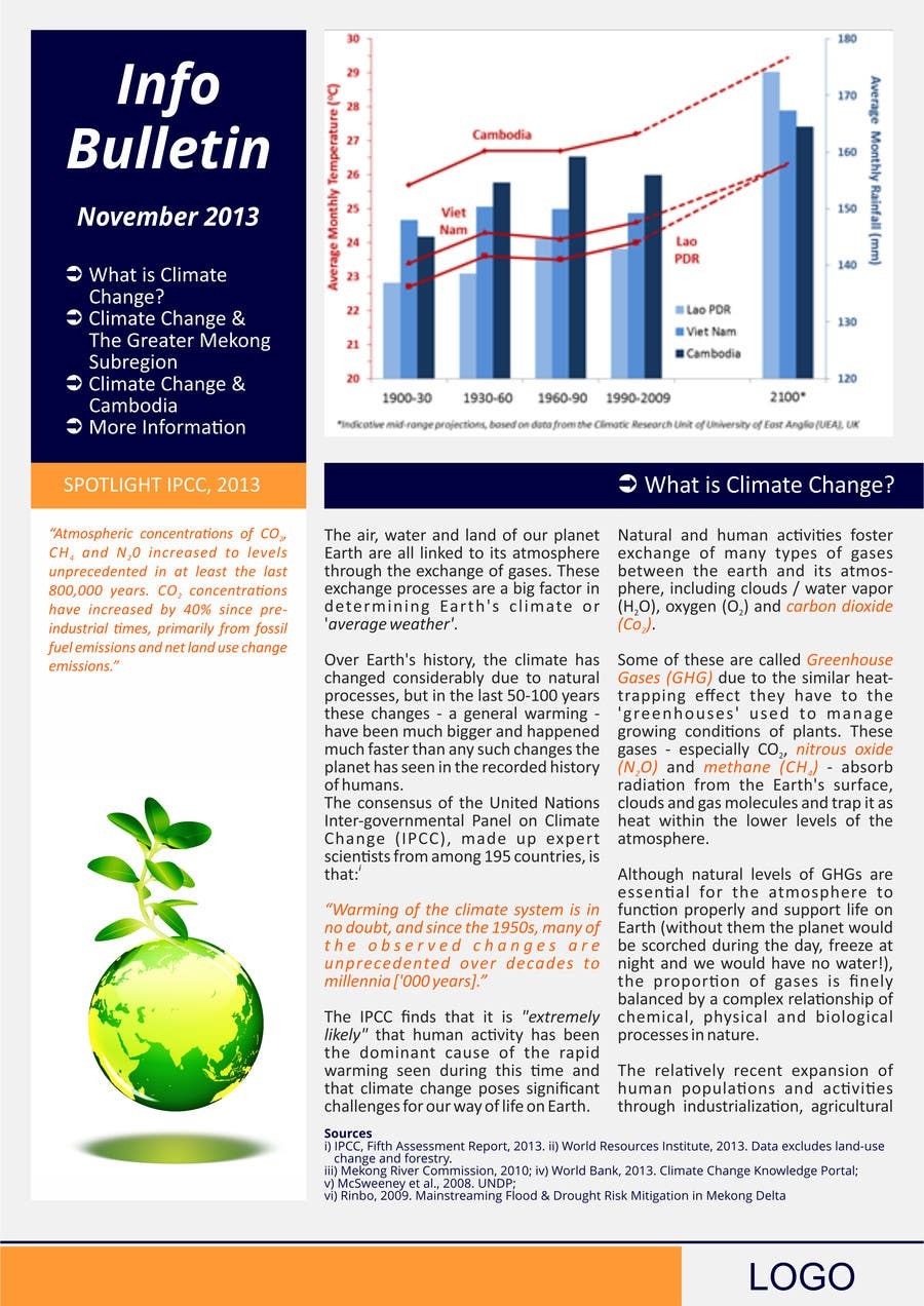#22 for Design a Info-Bulletin template for a climate change & agriculture awareness-raising by barinix