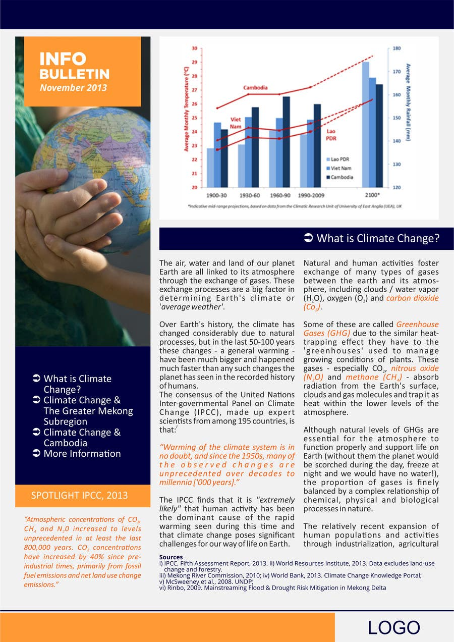 #23 for Design a Info-Bulletin template for a climate change & agriculture awareness-raising by barinix