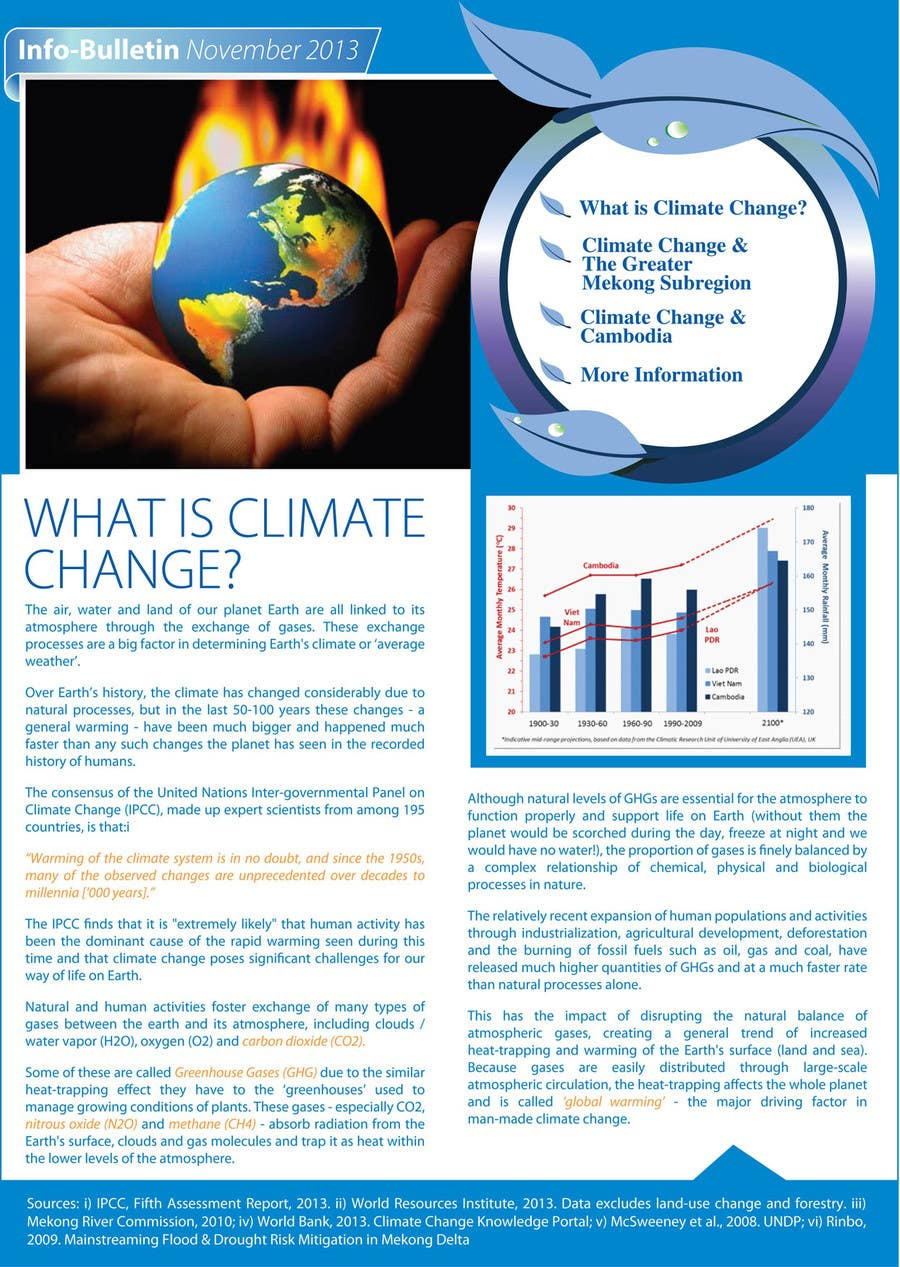 #4 for Design a Info-Bulletin template for a climate change & agriculture awareness-raising by amcgabeykoon