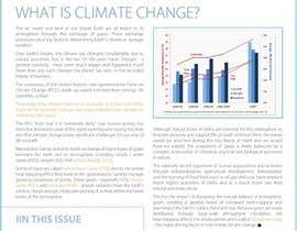 nº 21 pour Design a Info-Bulletin template for a climate change & agriculture awareness-raising par amcgabeykoon