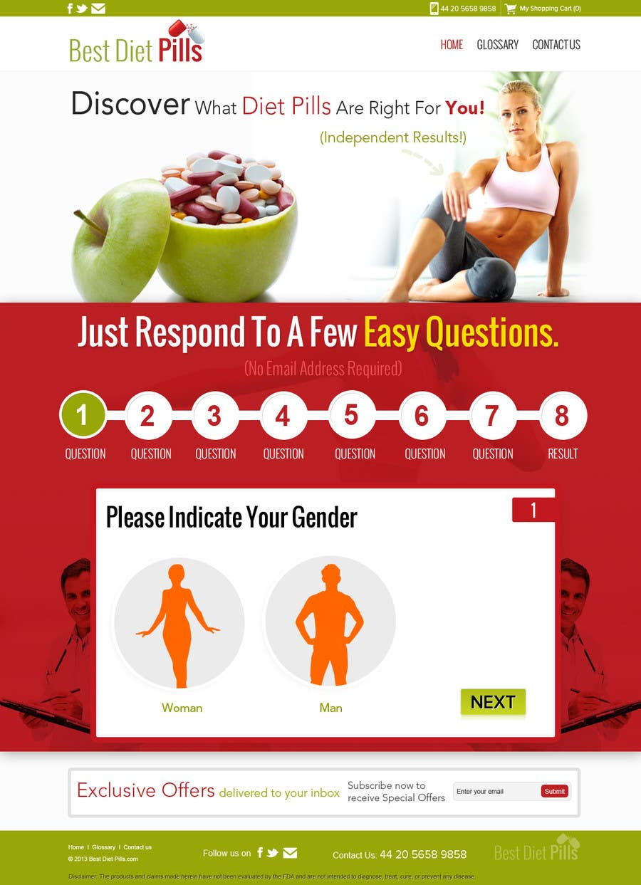 #14 for Design a Website Mockup for Weight Loss Website by suryabeniwal