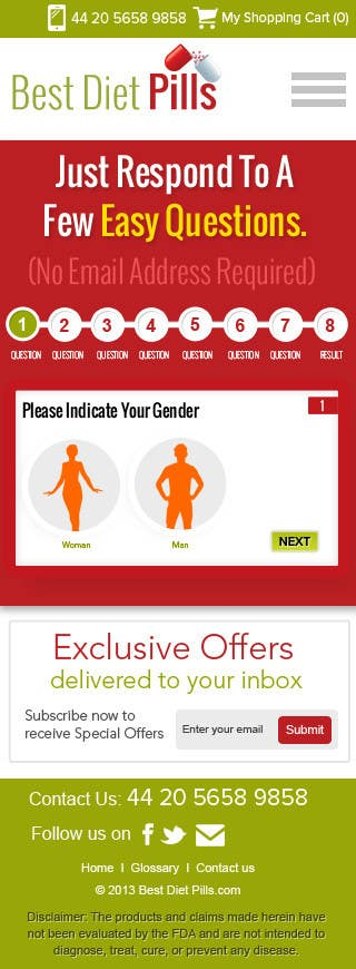 #16 for Design a Website Mockup for Weight Loss Website by suryabeniwal