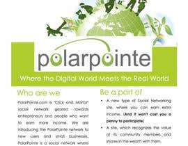 #3 untuk Graphic Design for Flyer for PolarPointe.com, the entrepreneurs social network. oleh Jaydeepc