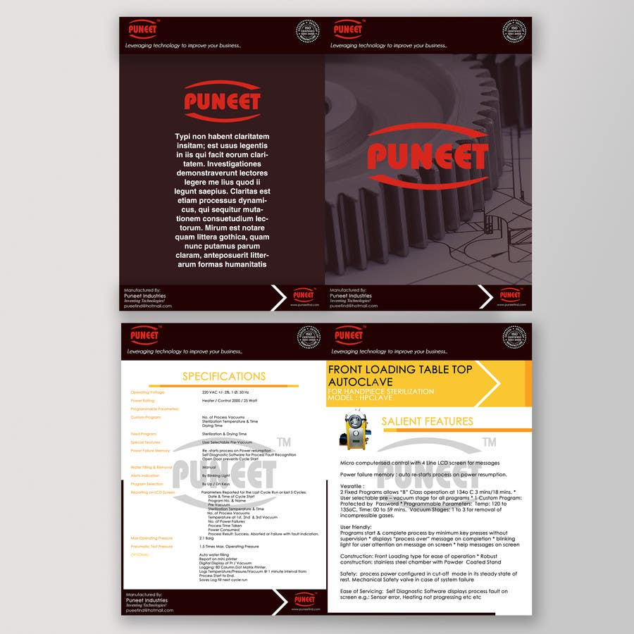 #12 for Design a Brochure for an Engineering Company by foxstrap