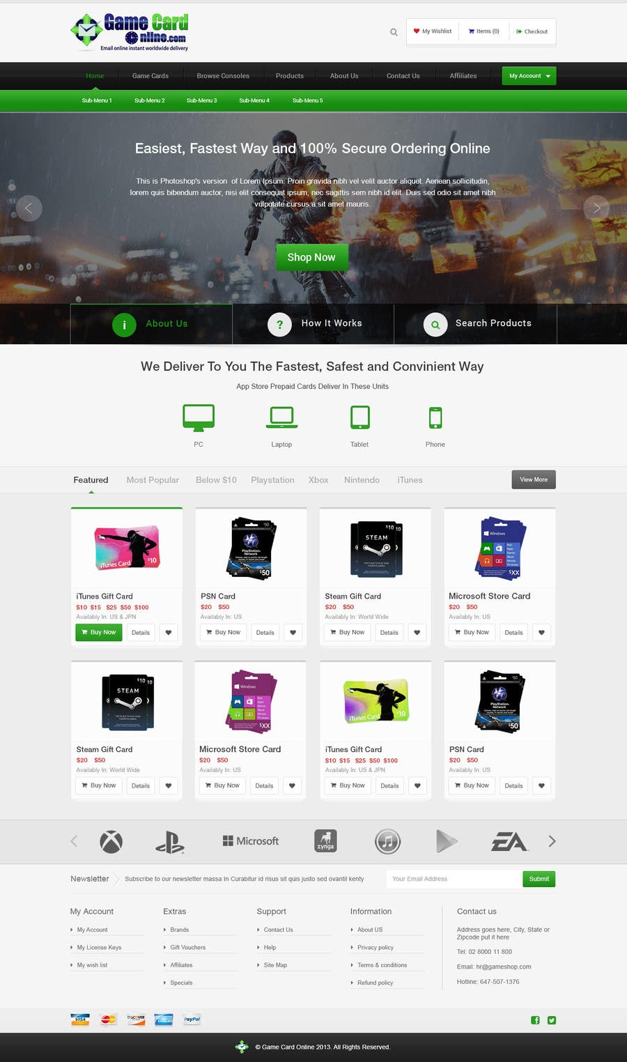#93 for Design a Website Mockup for ecommerce site by edbryan