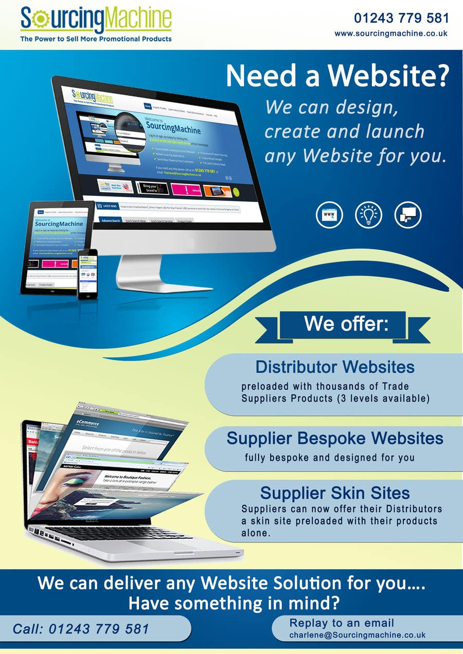 Need a website email flyer design request freelancer Where can i make a website