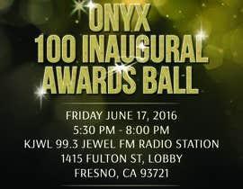 Nro 17 kilpailuun Design a Flyer- Onyx 100 Honoree Reception käyttäjältä Feb16
