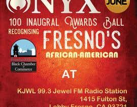 Nro 1 kilpailuun Design a Flyer- Onyx 100 Honoree Reception käyttäjältä divpa1992