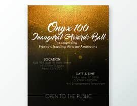 Nro 8 kilpailuun Design a Flyer- Onyx 100 Honoree Reception käyttäjältä jasminmaurice