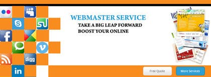 Graphic Design Contest Entry #11 for Design a Banner for website slider - Webmaster Services