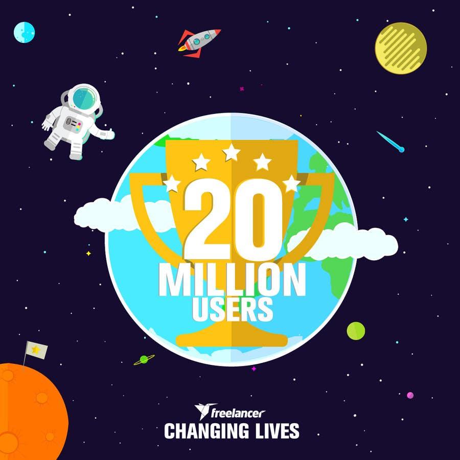 Contest Entry #246 for Design Contest: Freelancer.com Hits 20M Users
