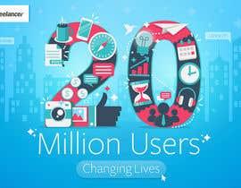 Nro 245 kilpailuun Design Contest: Freelancer.com Hits 20M Users käyttäjältä vickysmart