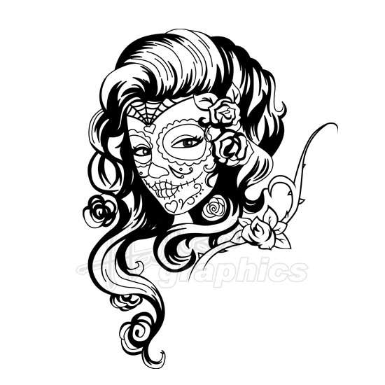 entry 21 by hallowgraphics for day of the dead sugar skull design