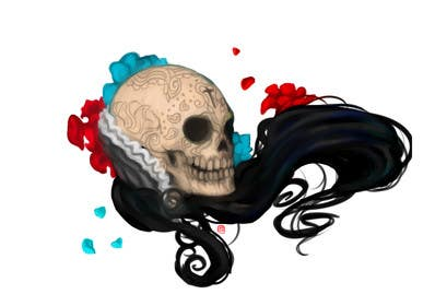 #25 for Day of the Dead - Sugar Skull Design / Cartoon / Illustration by momotaros