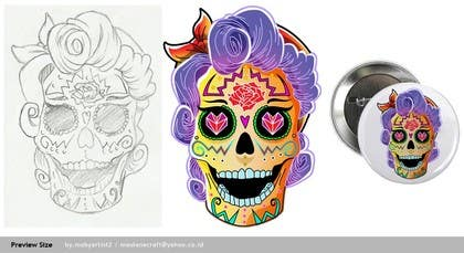 #24 for Day of the Dead - Sugar Skull Design / Cartoon / Illustration by mobyartist2