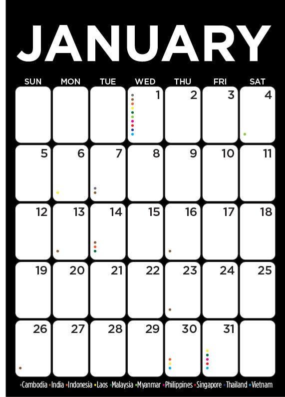 Kilpailutyö #10 kilpailussa Design and Layout 2014 Calendar