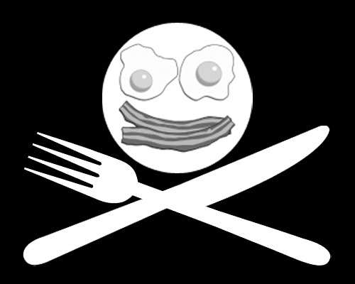 "#4 for Design a Logo for ""Pirate"" themed food blog. Argggh! by p1nd1"