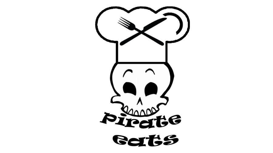 "Proposition n°25 du concours Design a Logo for ""Pirate"" themed food blog. Argggh!"
