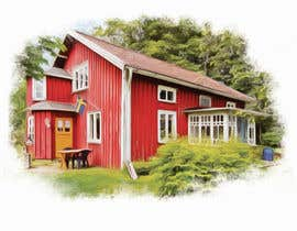#9 for Design a picture with a typical Swedish house and surroundings by EstefanPortu