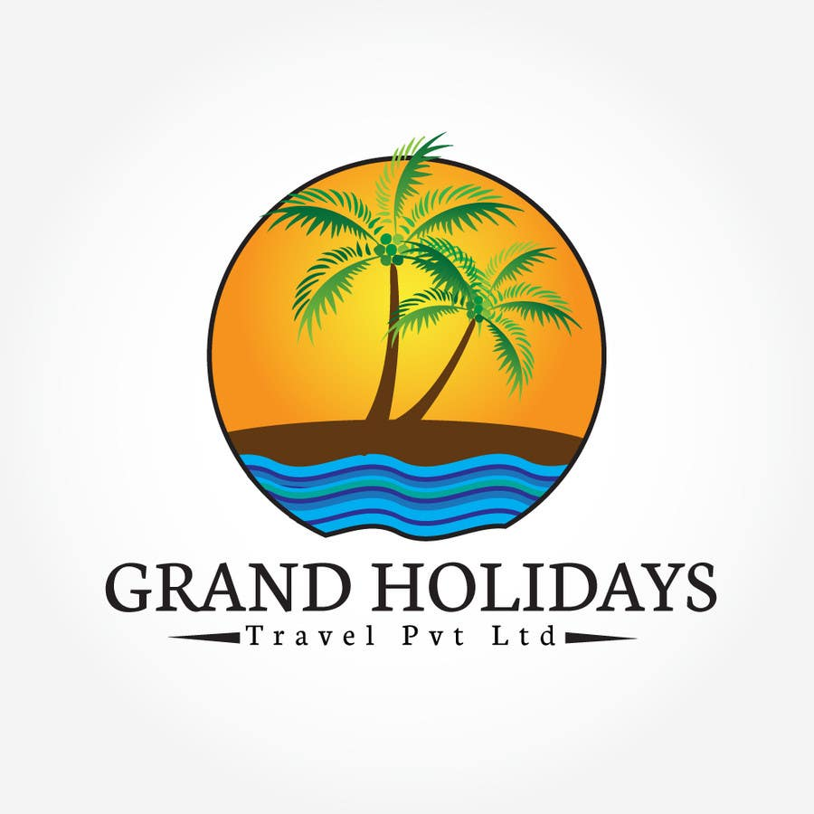 #42 for Design a Logo for travel company 'Grand Holidays Travel Pvt. Ltd.' by Syahriza