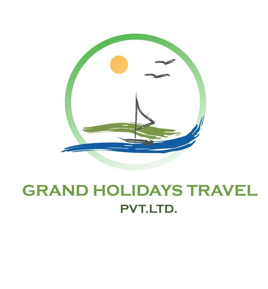 Konkurrenceindlæg #13 for Design a Logo for travel company 'Grand Holidays Travel Pvt. Ltd.'