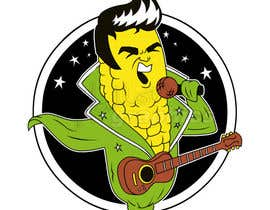 #13 para Elvis as Corn T-Shirt por hallowgraphics