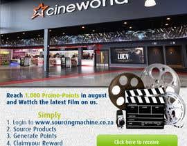 Nro 8 kilpailuun Design a Flyer- Watch the latest film on us email flyer design käyttäjältä Biayi81