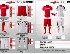dezsign tarafından Design a Uniform order form for youth soccer club için no 1