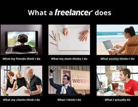 #48 para Graphic Design for What a Freelancer does! por wademd