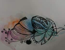 Nro 18 kilpailuun Tattoo design- feminine floral tattoo desired to cover existing tattoo on inner ankle käyttäjältä agnesbernadett