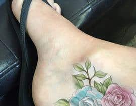 Nro 13 kilpailuun Tattoo design- feminine floral tattoo desired to cover existing tattoo on inner ankle käyttäjältä phanuwatkhonsap