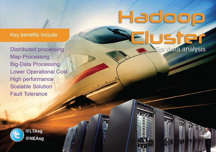 #19 for I need a poster design for the following topic Implimentation of Hadoop Cluster for data analysis by sasfdo