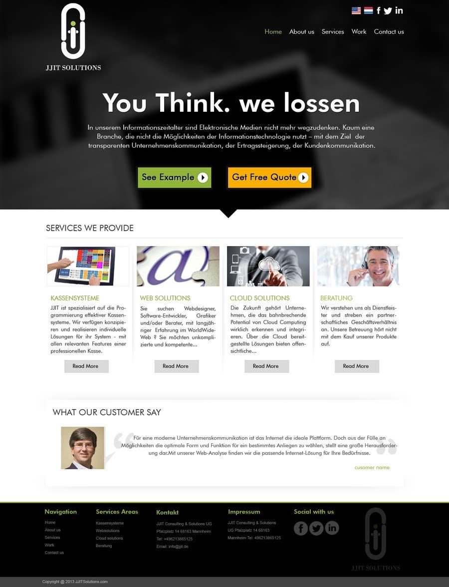 Bài tham dự cuộc thi #7 cho Design a Website Mockup for IT Company