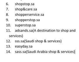 Nro 49 kilpailuun Urgent & Easy: Find a suitable trade- and domain- name for a Saudi start-up company käyttäjältä yogeshsardana