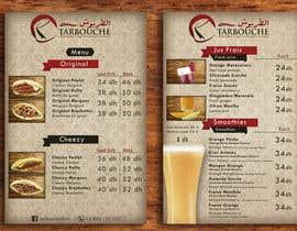 Nro 16 kilpailuun Design a Menu for a juice bar and fast food käyttäjältä nicogiudiche