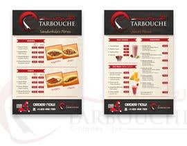 Nro 9 kilpailuun Design a Menu for a juice bar and fast food käyttäjältä glazaropoulos