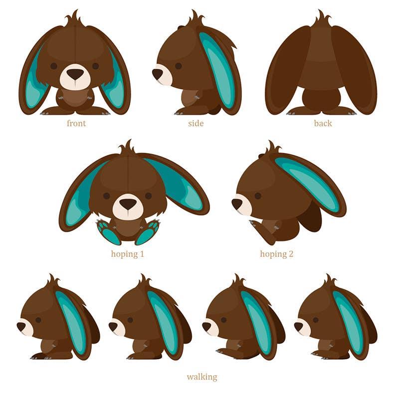 Inscrição nº 59 do Concurso para Character Design: Combination of a Bunny and a Bear