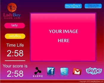 #30 for Design a Website Mockup for domain Ladyboygame.com by ipuung